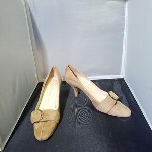 Final MARTINEZ VALERO Vintage Tan Suede Heels